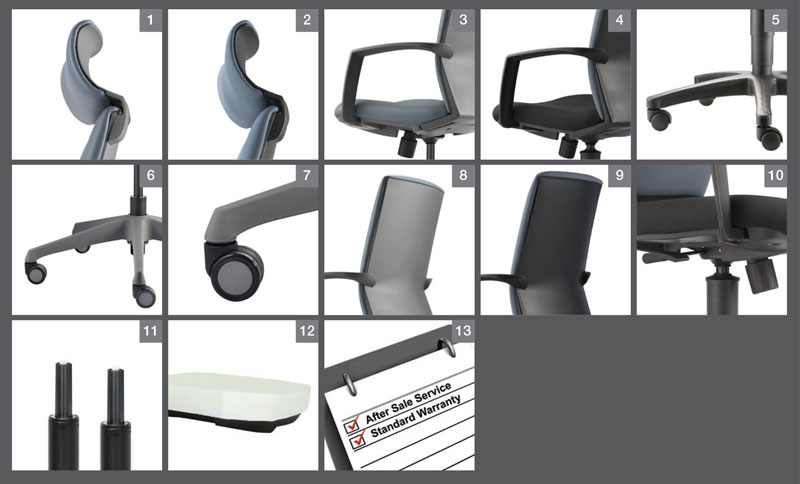 Eve Office Chair Optional Specification