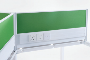 Fabric panel with sockets