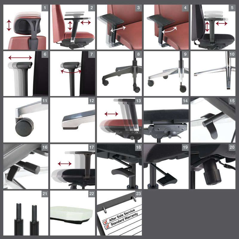 Hugo Office Chair Optional Specification