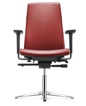 Hugo Visitor/Conference Leather Office Chair With Arm