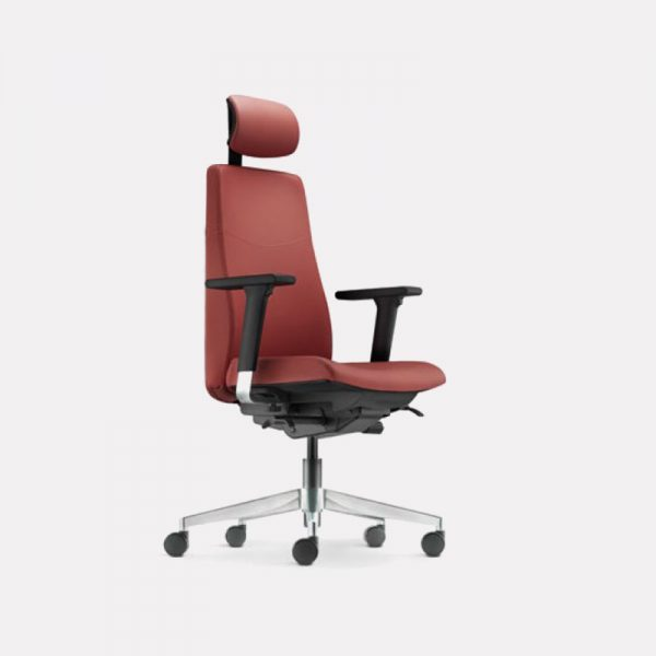 Hugo Leather   Fabric Office Chair - Puchong Office Chair Manufacturer