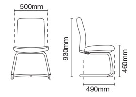 Karisma Visitor/Conference Fabric Fabric Office Chair Without Arm Dimension