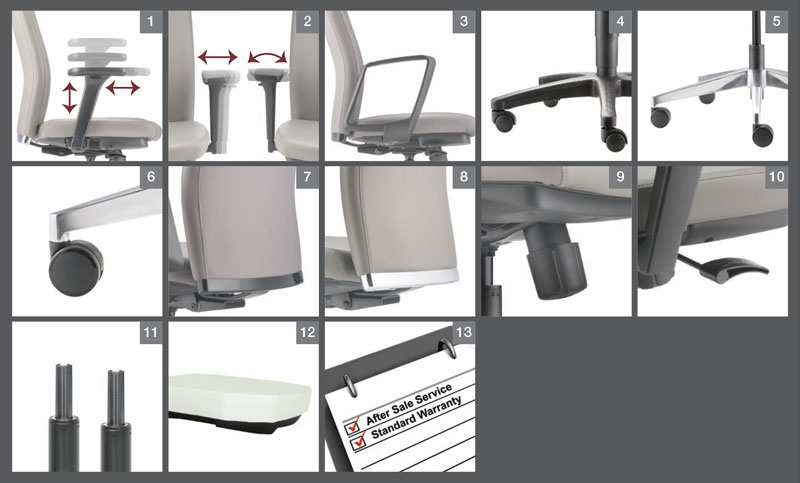 Karisma Office Chair Optional Specification