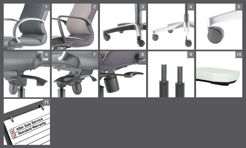 Klair Office Chair Optional Specification