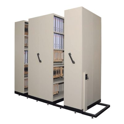 Hand Push Mobile Compactor Filing System - Office Steel Furniture Supplier