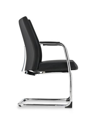 Premium Lowres Visitor/Conference Leather Office Chair With Arm