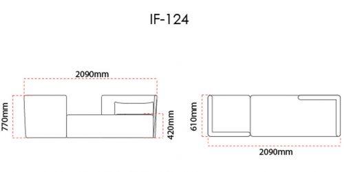 Infinity Office Sofa Seats Dimension