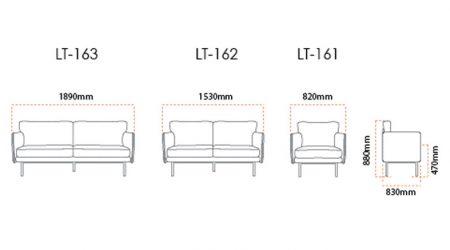 Loft Office Sofa Dimension