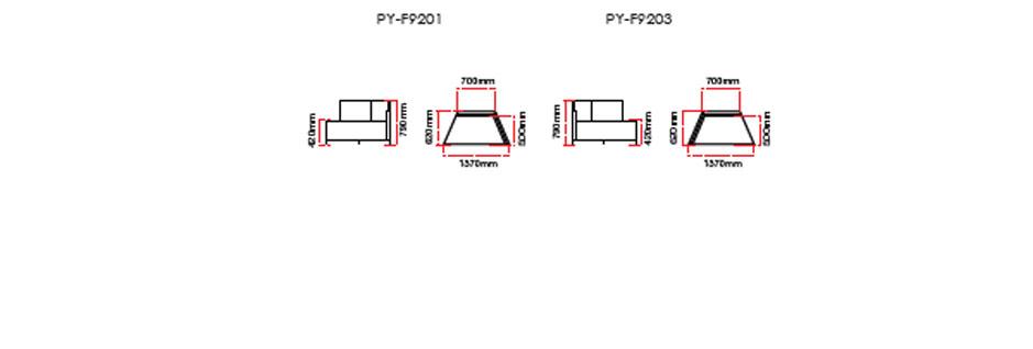 Pyramid Office Sofa Dimension