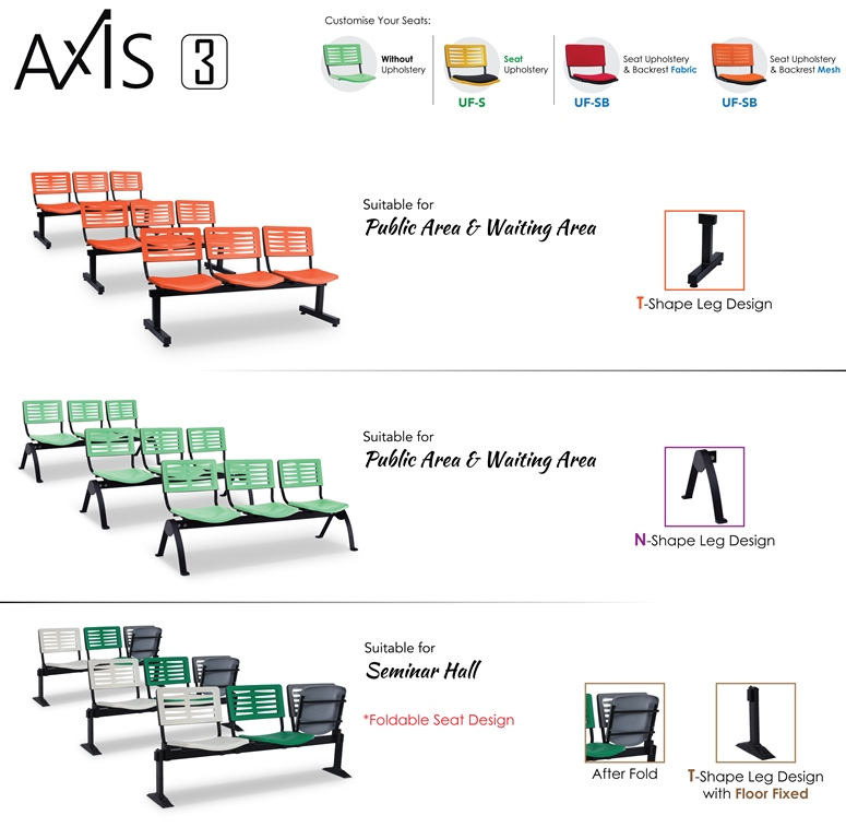 Axis 3 Public Area & Waiting Area Chairs