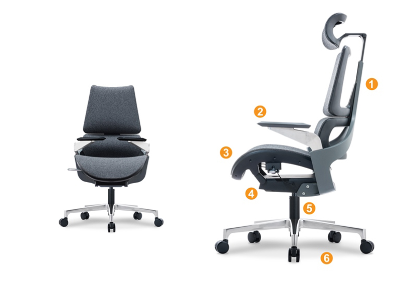 A Series Fabric Grey Office Chair Product Description