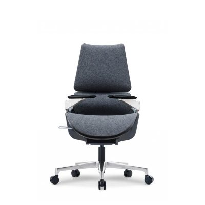 A Series Fabric Grey Office Chair - Keno Design Office Chair Supplier